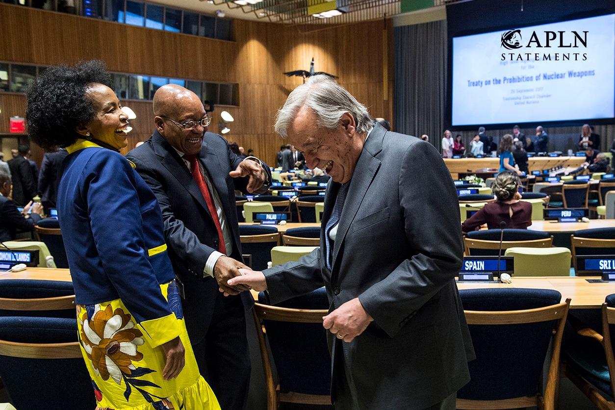 APLN Co-Convenors' Statement on the UN Nuclear Weapon Prohibition Treaty