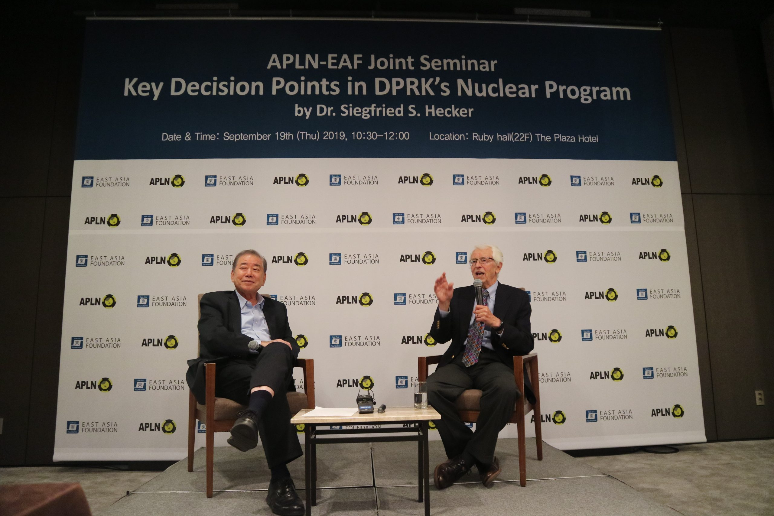 APLN-EAF Joint Seminar on Key Decision Points in DPRK's Nuclear Program