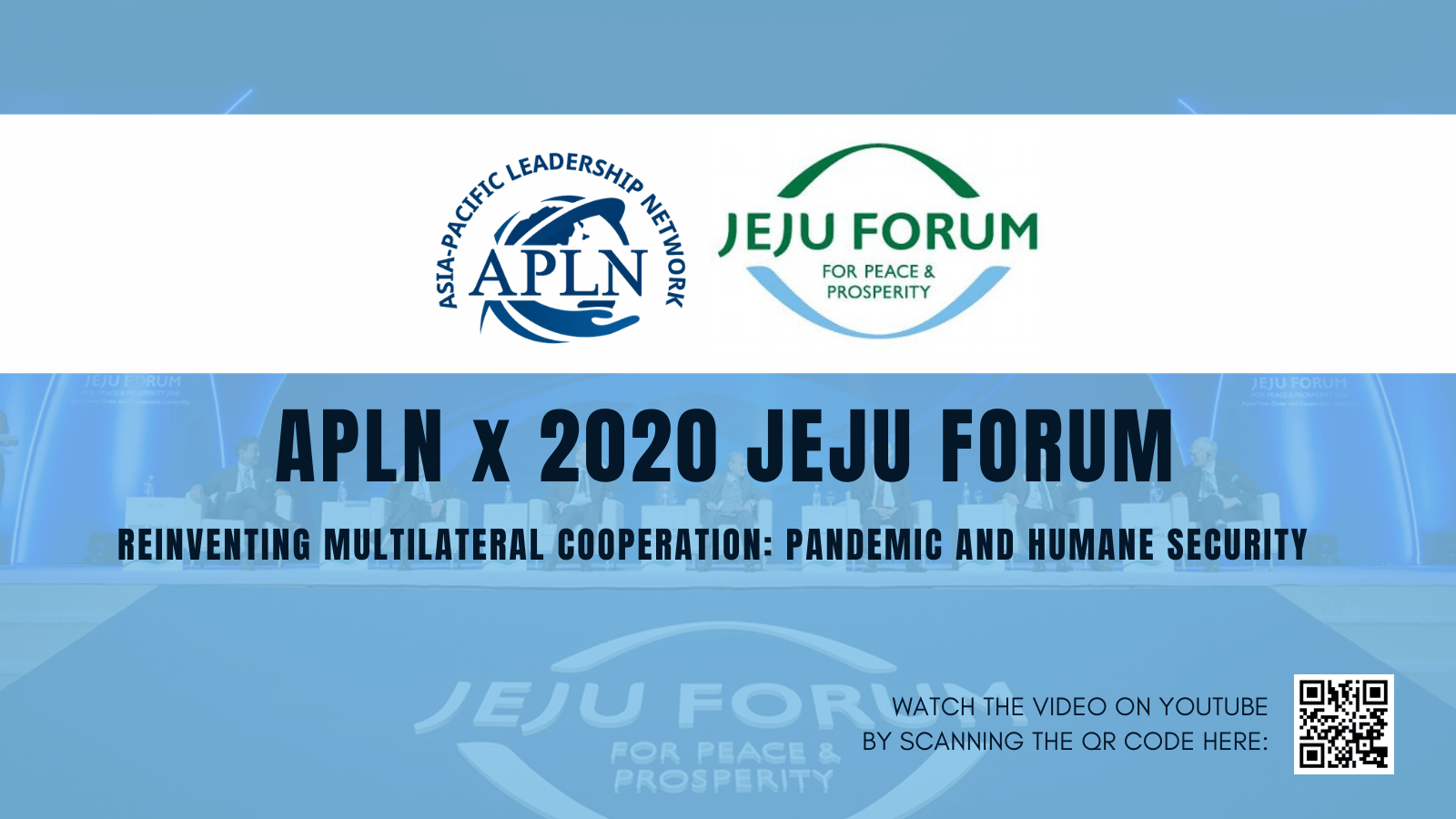 [Online Sessions] APLN at the Jeju Forum 2020