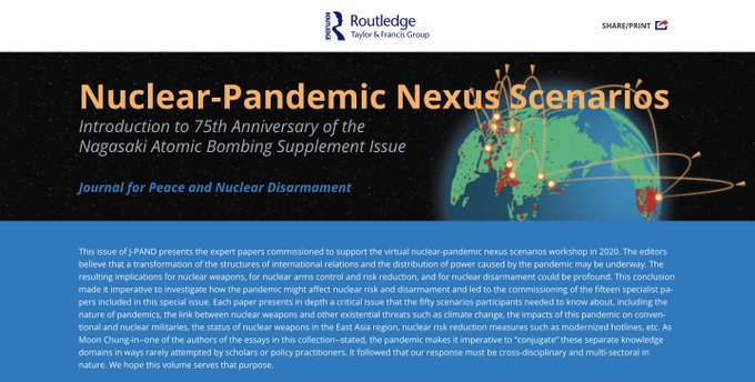 [J-PAND] Special Page on Nuclear-Pandemic Nexus Scenarios project