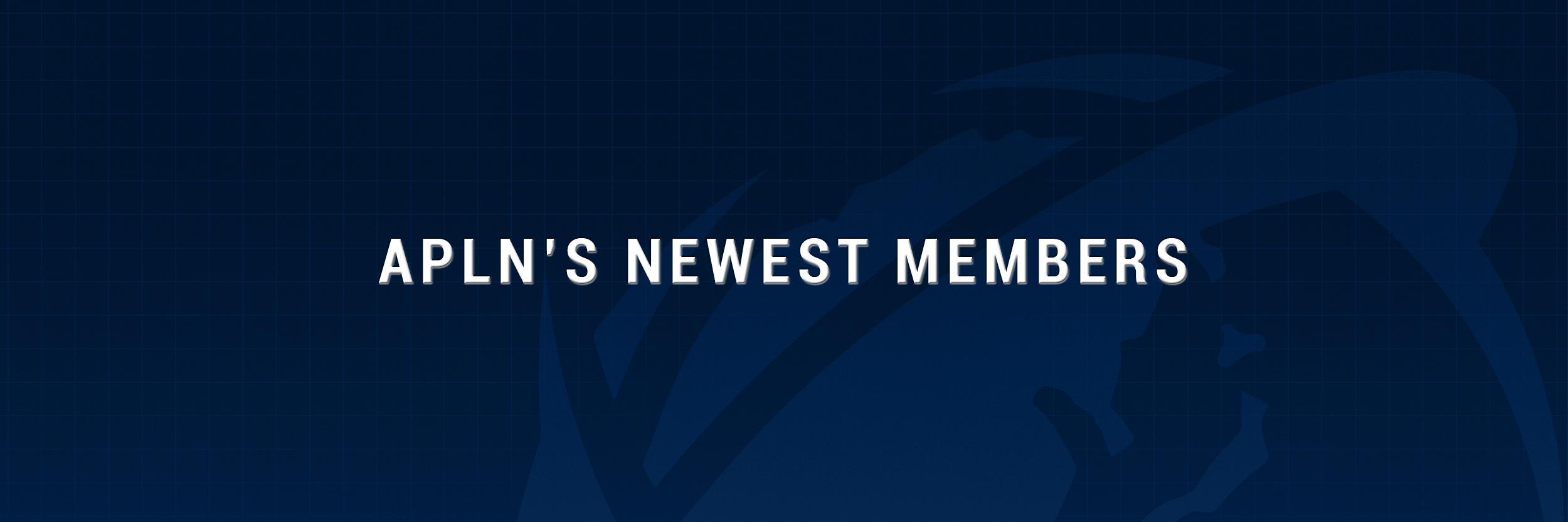 APLN Welcomes New Network Members