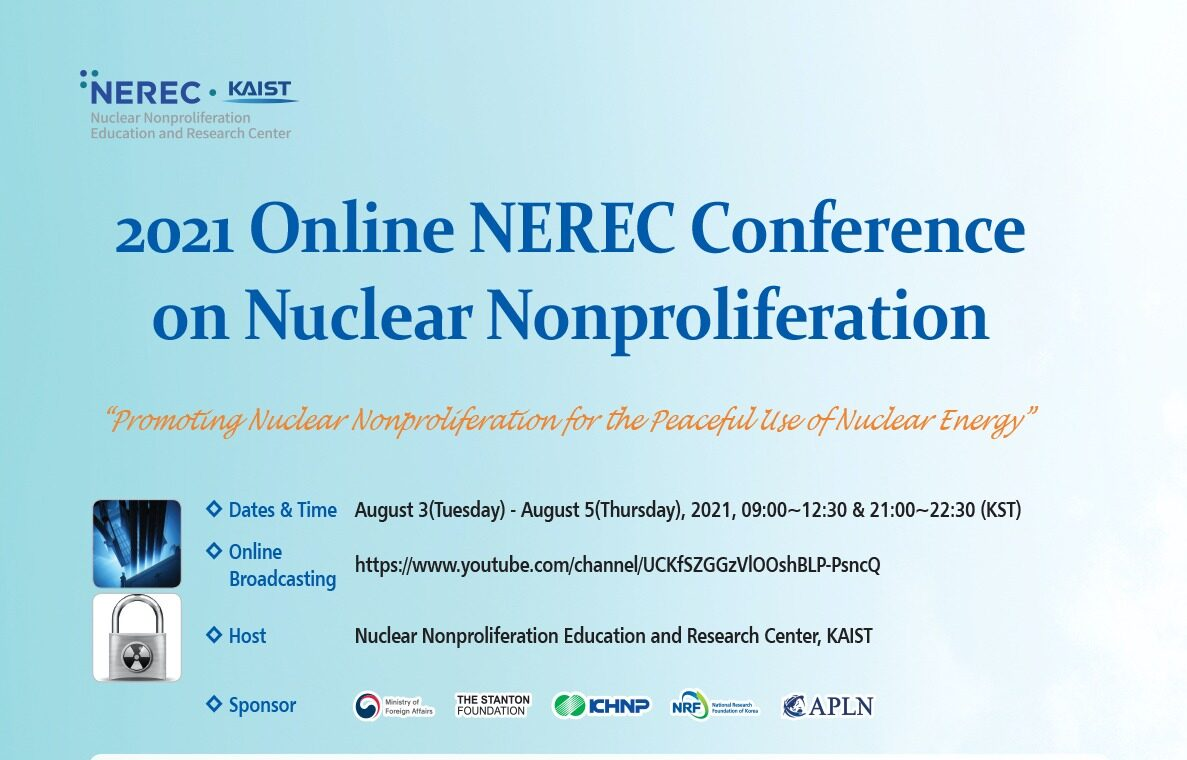 2021 Online NEREC Conference on Nuclear Nonproliferation