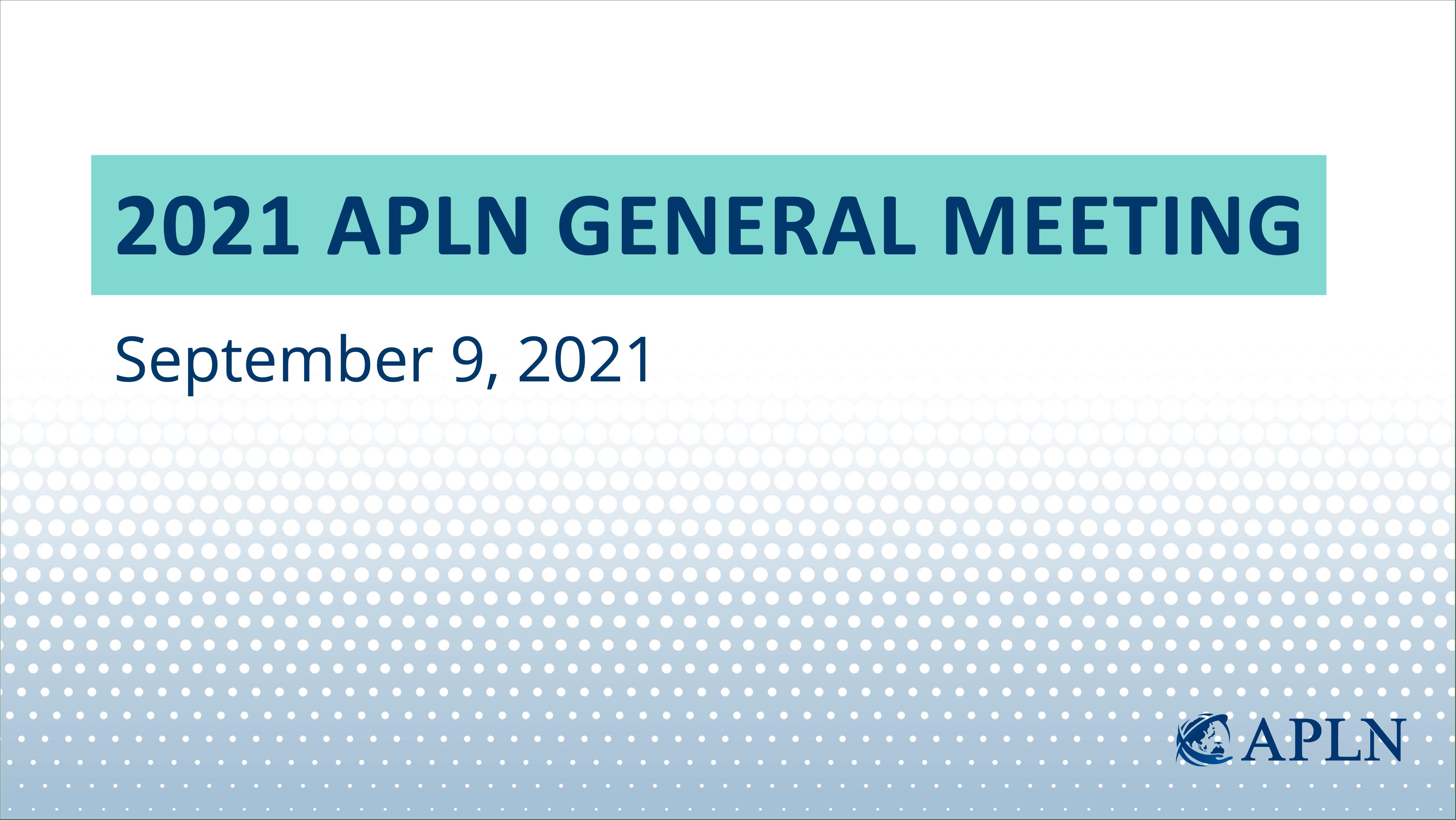 APLN Hosts General Members Meeting