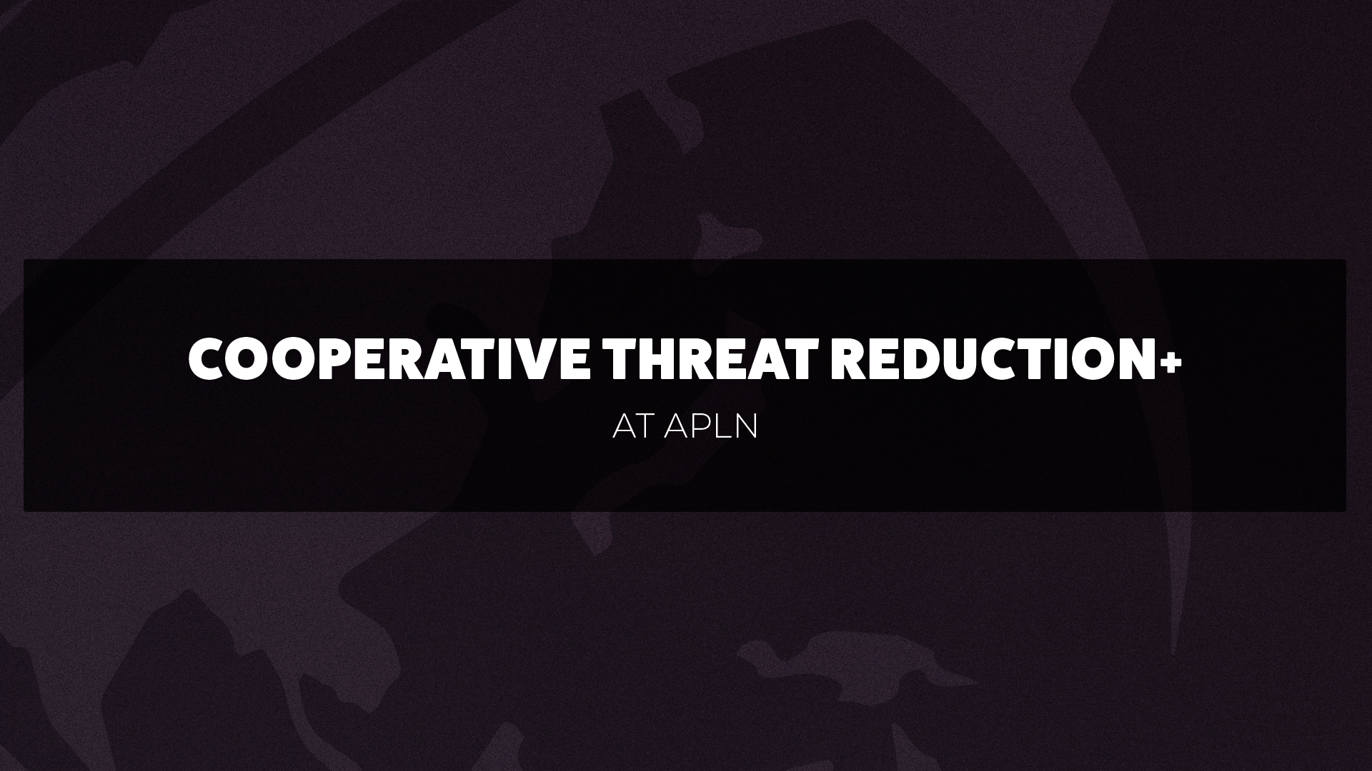 DPRK Cooperative Threat Reduction+
